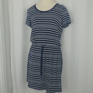 Olive & Oak blue/white striped dress (large)